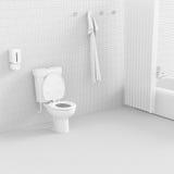 3d toilet. Royalty Free Stock Photos