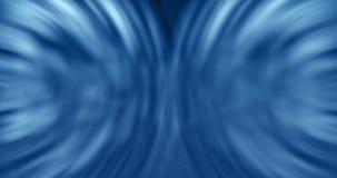 3D tolkning, abstrakt kosmisk energi för explosionshockwaveblått på svart bakgrund, textur arkivfilmer
