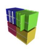 3d tolkning för illustration 3d, affärsidé, affärsdokumentledning, data - bearbeta, Royaltyfria Bilder