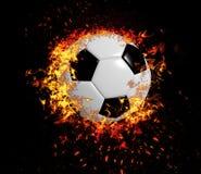 3D tolkning, fotbollboll, royaltyfri fotografi