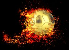 3D tolkning, fotbollboll royaltyfria foton