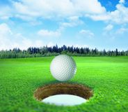 3D tolkning, golfboll, arkivbild