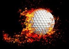 3D tolkning, golfboll, royaltyfri foto