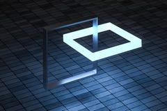 3d tolkning, idérika ramar med avkänning av vetenskap och teknik vektor illustrationer