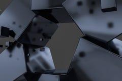 3d tolkning, id?rika kuber med avk?nning av vetenskap och teknik royaltyfri illustrationer
