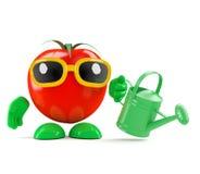 3d Tomatentuinman Stock Afbeeldingen