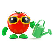 3d Tomato gardener royalty free illustration