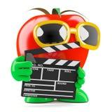 3d Tomato makes a movie Royalty Free Stock Photos