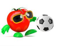 3d Tomato soccer Royalty Free Stock Image