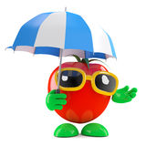 3d Tomato umbrella Stock Photography