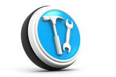 3d tools icon Royalty Free Stock Image