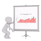 3d toon giving business presentation Stock Photography