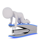 3d toon using large stapler Stock Images
