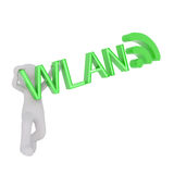 3d toon with WLAN sign on white Stock Photo