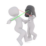 3d toons fighting with light sabres Royalty Free Stock Photography