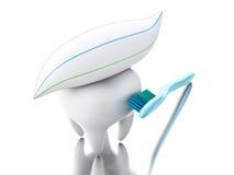 3D Toothbrush szczotkuje ząb Zdjęcia Royalty Free