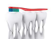 3D Toothbrush szczotkuje ząb Fotografia Stock