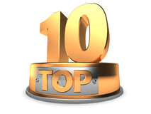 3d Top 10 Lizenzfreie Stockfotografie