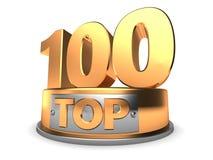3d Top 100 Lizenzfreies Stockfoto