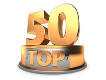 3d Top 50 Lizenzfreies Stockbild
