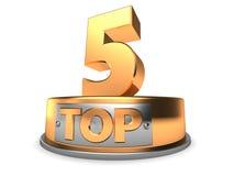 3d Top 5 Lizenzfreies Stockbild