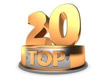 3D Top 20 Lizenzfreie Stockfotos