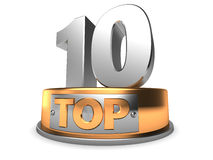 3d top 10 Royalty Free Stock Photography