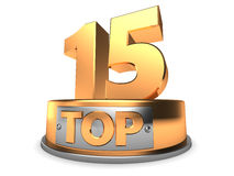 3d top 15 Royalty Free Stock Photo