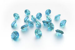3D Topaz - 18 Blue Gems Stock Image