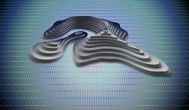 3d Topological mapa góry i wzgórza Kartografia i topologia również zwrócić corel ilustracji wektora ilustracji