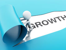 3d torn paper growth Stock Image