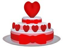 3d tort z miłością Obrazy Stock