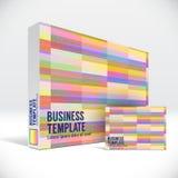 3D tożsamości pudełko z abstrakcjonistyczną kolorową linii pokrywą Fotografia Royalty Free