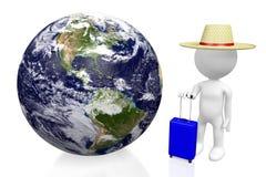 3D touriste, concept de voyage Images libres de droits