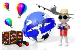 3D touriste, concept de voyage Photo stock