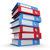 3d Tower of folders Stock Photo