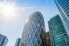 D2 tower in La Defense business district in Paris Royalty Free Stock Photo
