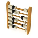 3d toy abacus Royalty Free Stock Image