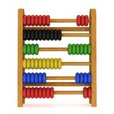 3d toy abacus Royalty Free Stock Photos