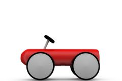 3d toy car concept Royalty Free Stock Images