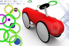 3d toy car illustration Stock Images