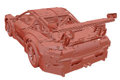 3D toy clay car Royalty Free Stock Images