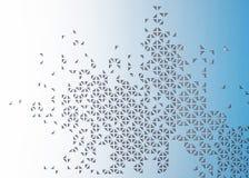 3d trójboka dziurkowaty abstrakcjonistyczny tło Zdjęcie Stock