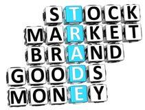 3D Trade Crossword Stock Photo
