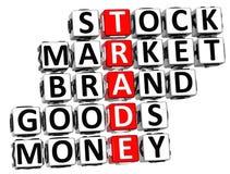 3D Trade Market Stock Crossword Stock Photos