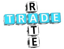 3D Trade Rate Crossword Royalty Free Stock Photo