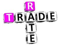 3D Trade Rate Crossword Royalty Free Stock Images