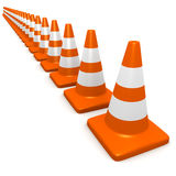 3d Traffic cones Royalty Free Stock Image