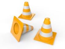 3d traffic cones Stock Images
