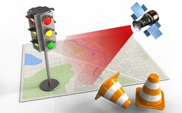 3d traffic light Stock Image